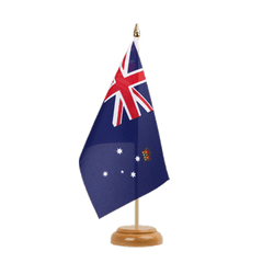"Victoria Table Flag 6x9"", wooden"