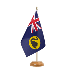 "Australia Western Table Flag 6x9"", wooden"
