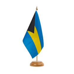 "Bahamas - Table Flag 6x9"", wooden"