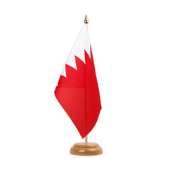 "Bahrain - Table Flag 6x9"", wooden"
