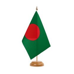 "Bangladesh - Table Flag 6x9"", wooden"