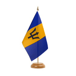 "Barbados Table Flag 6x9"", wooden"
