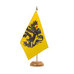 "Belgium Flanders Table Flag 6x9"", wooden"