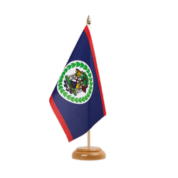 Drapeau de table Belize 15 x 22 cm, bois