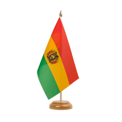 Drapeau de table Bolivie - 15 x 22 cm, bois