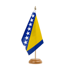 "Bosnia-Herzegovina  Table Flag 6x9"", wooden"