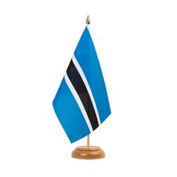 "Botswana - Table Flag 6x9"", wooden"