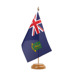 "British Virgin Islands Table Flag 6x9"", wooden"