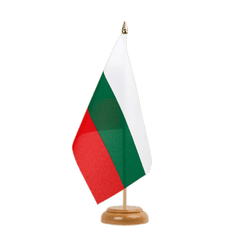 "Bulgaria Table Flag 6x9"", wooden"