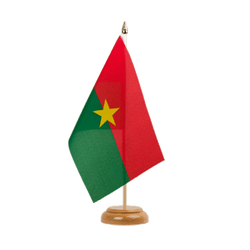 "Burkina Faso Table Flag 6x9"", wooden"