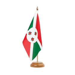 "Burundi Table Flag 6x9"", wooden"