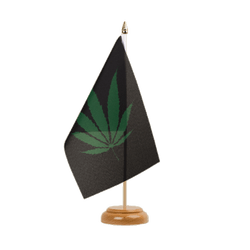 Drapeau de table Cannabis Reggae - 15 x 22 cm, bois