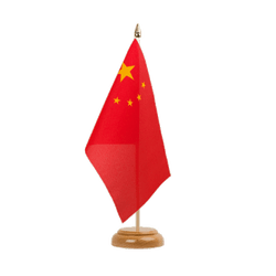"China Table Flag 6x9"", wooden"