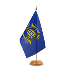 "Commonwealth Table Flag 6x9"", wooden"