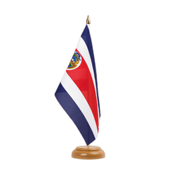 Drapeau de table Costa Rica 15 x 22 cm, bois