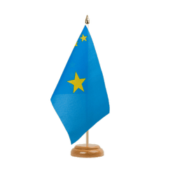 "Democratic Republic of the Congo old Table Flag 6x9"", wooden"