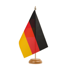 "Germany Table Flag 6x9"", wooden"