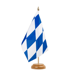 "Bavaria without crest - Table Flag 6x9"", wooden"