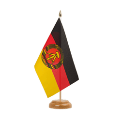 "GDR  Table Flag 6x9"", wooden"