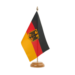 "Germany Dienstflagge Table Flag 6x9"", wooden"