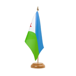 "Djibouti - Table Flag 6x9"", wooden"