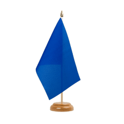 "Blue Table Flag 6x9"", wooden"