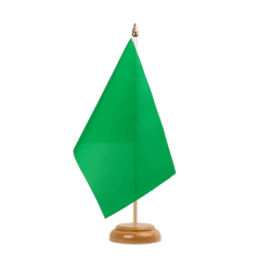 "Green Table Flag 6x9"", wooden"