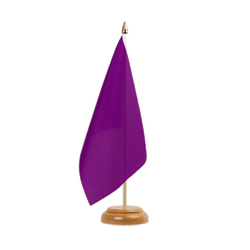 "Purple Table Flag 6x9"", wooden"