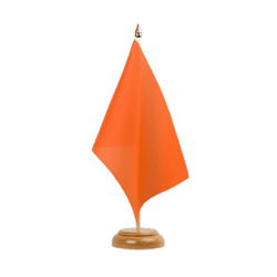 "Orange Table Flag 6x9"", wooden"