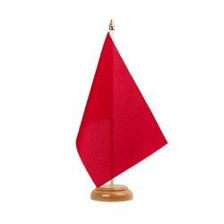 "Red - Table Flag 6x9"", wooden"