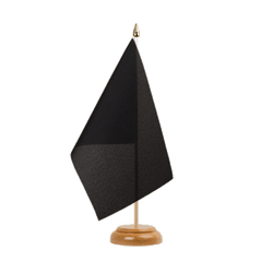 "Black Table Flag 6x9"", wooden"