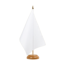 "White - Table Flag 6x9"", wooden"