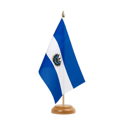 "El Salvador Table Flag 6x9"", wooden"