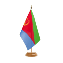 "Eritrea - Table Flag 6x9"", wooden"