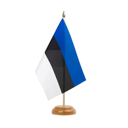 "Estonia Table Flag 6x9"", wooden"