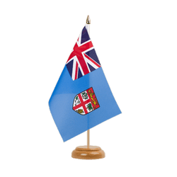 "Fiji Table Flag 6x9"", wooden"