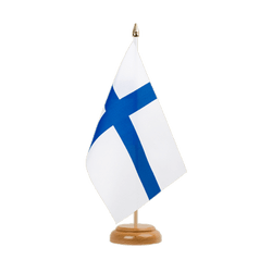 "Finland - Table Flag 6x9"", wooden"