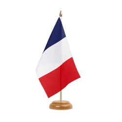 France Drapeau de table 15 x 22 cm, bois