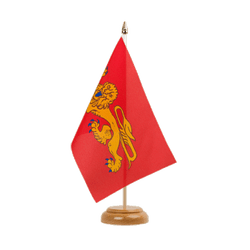 "Aquitaine Table Flag 6x9"", wooden"