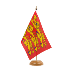 "Upper Normandy Table Flag 6x9"", wooden"
