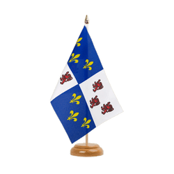 "Picardie Table Flag 6x9"", wooden"