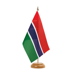 "Gambia Table Flag 6x9"", wooden"