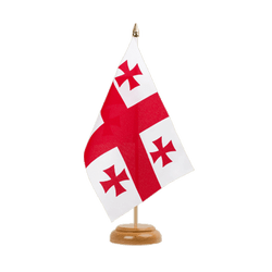 "Georgia Table Flag 6x9"", wooden"