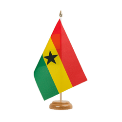 "Ghana Table Flag 6x9"", wooden"
