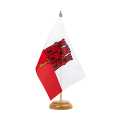 "Gibraltar - Table Flag 6x9"", wooden"