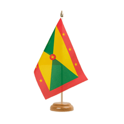 "Grenada Table Flag 6x9"", wooden"