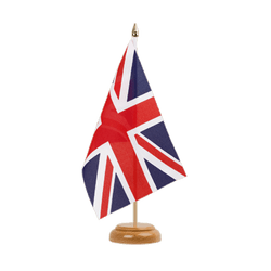 "Great Britain Table Flag 6x9"", wooden"