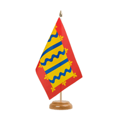 "Cambridgeshire Table Flag 6x9"", wooden"