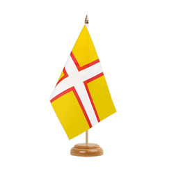 "Dorset Table Flag 6x9"", wooden"