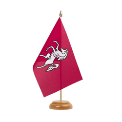 "Kent Table Flag 6x9"", wooden"